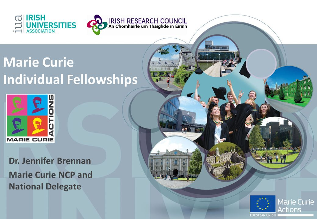 Marie Curie Individual Fellowships Dr. Jennifer Brennan Marie Curie NCP and National Delegate