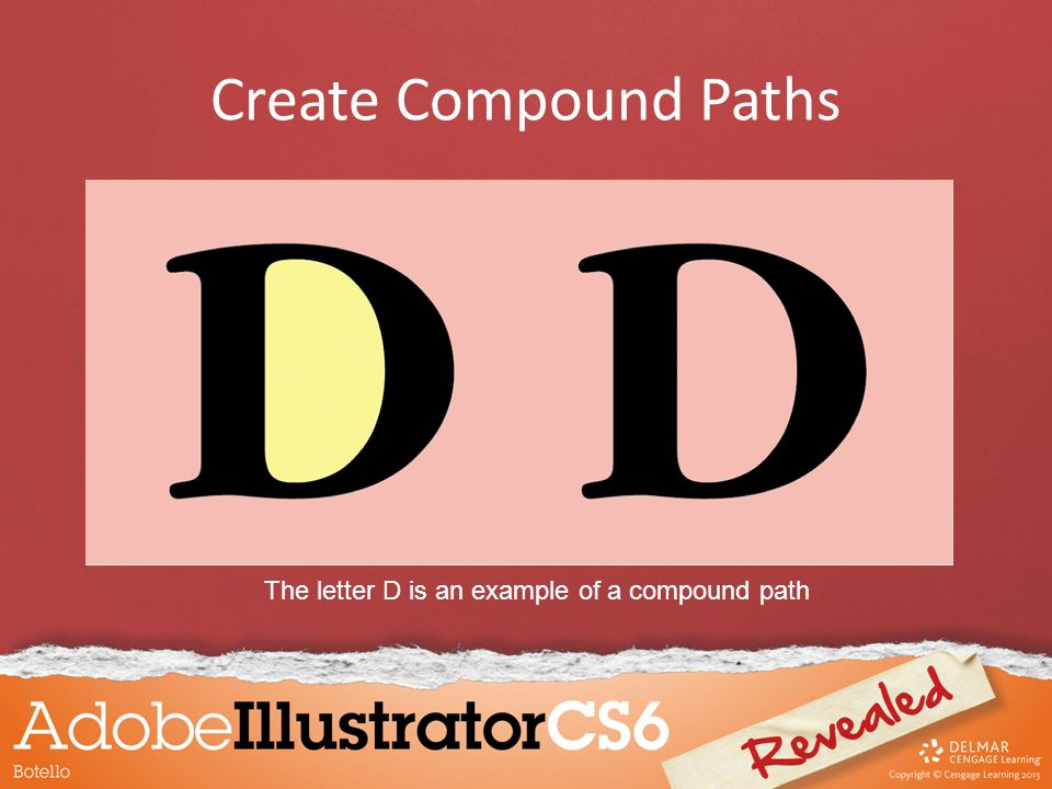 Create Compound Paths The letter D is an example of a compound path