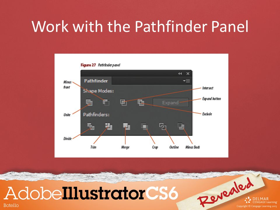 Work with the Pathfinder Panel