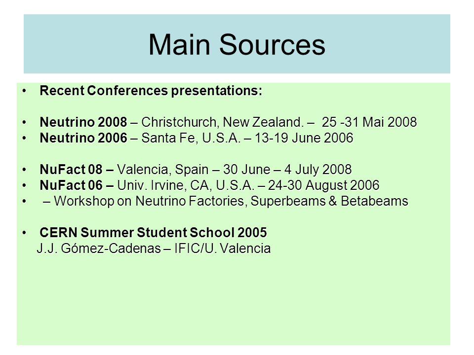 Sources of Neutrinos: Flux vs energy O.L.G.Peres