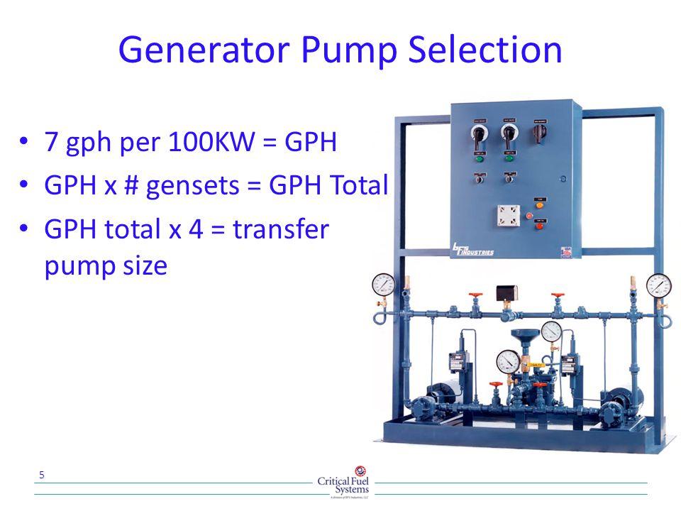 Suction Pump System 16 Redundancy A single duplex pump set satisfies redundancy requirement