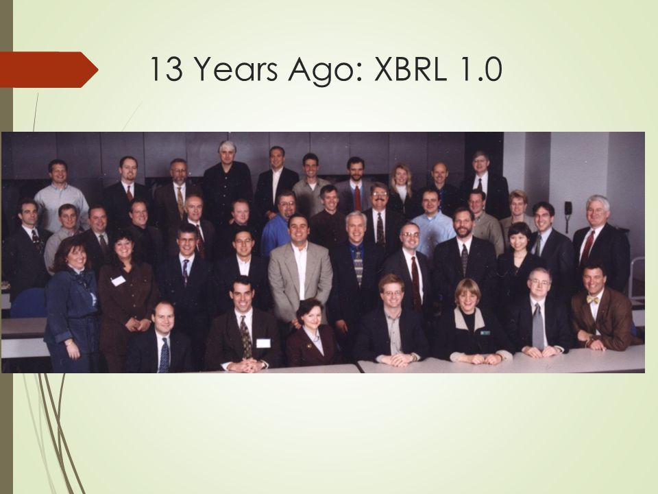 13 Years Ago: XBRL 1.0