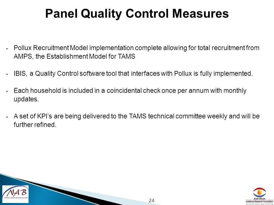 Pollux Recruitment Model implementation complete allowing for total recruitment from AMPS, the Establishment Model for TAMS IBIS, a Quality Control software tool that interfaces with Pollux is fully implemented.