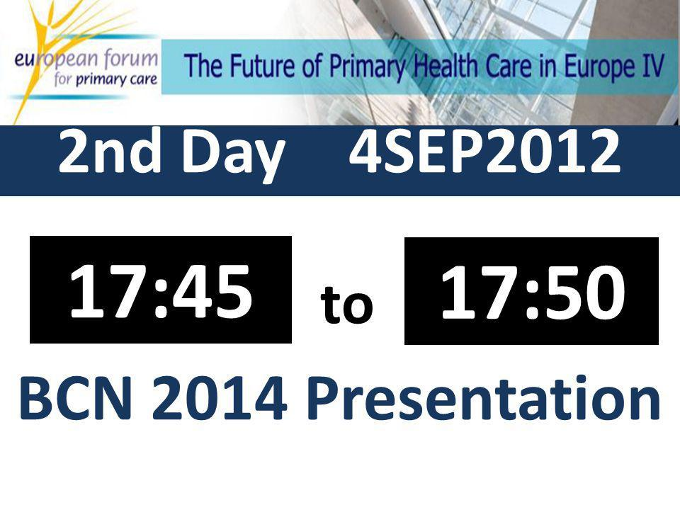 2nd Day 4SEP2012 to Closure 17:55 18:00