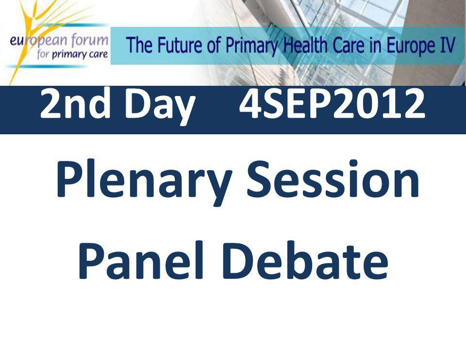 Summary of 8 planned workshops General questions to the panelists Panelists Debate Conclusions and final remarks by the President of the EFPC