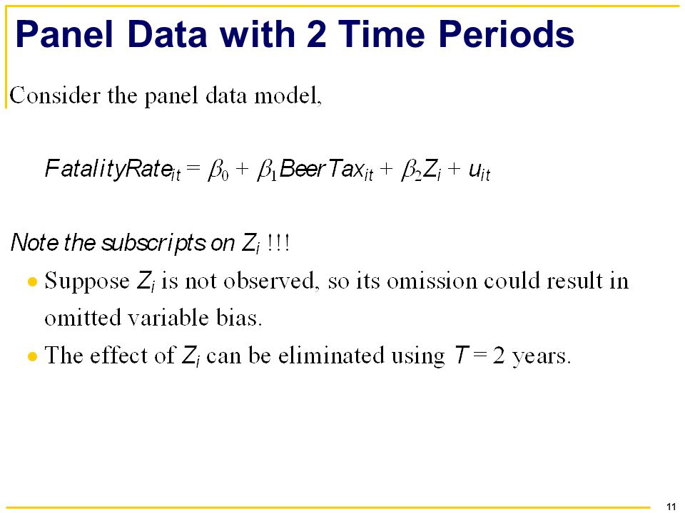 11 Panel Data with 2 Time Periods