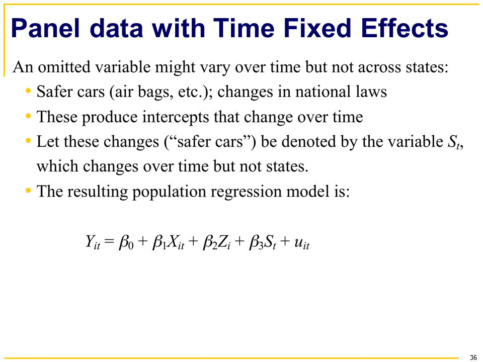 36 Panel data with Time Fixed Effects