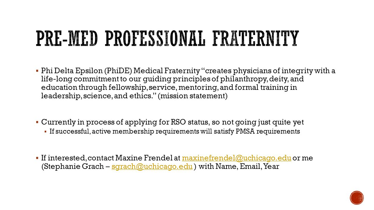 Phi Delta Epsilon (PhiDE) Medical Fraternity creates physicians of integrity with a life-long commitment to our guiding principles of philanthropy, de