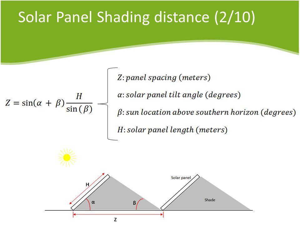 Solar Panel Shading distance (2/10)