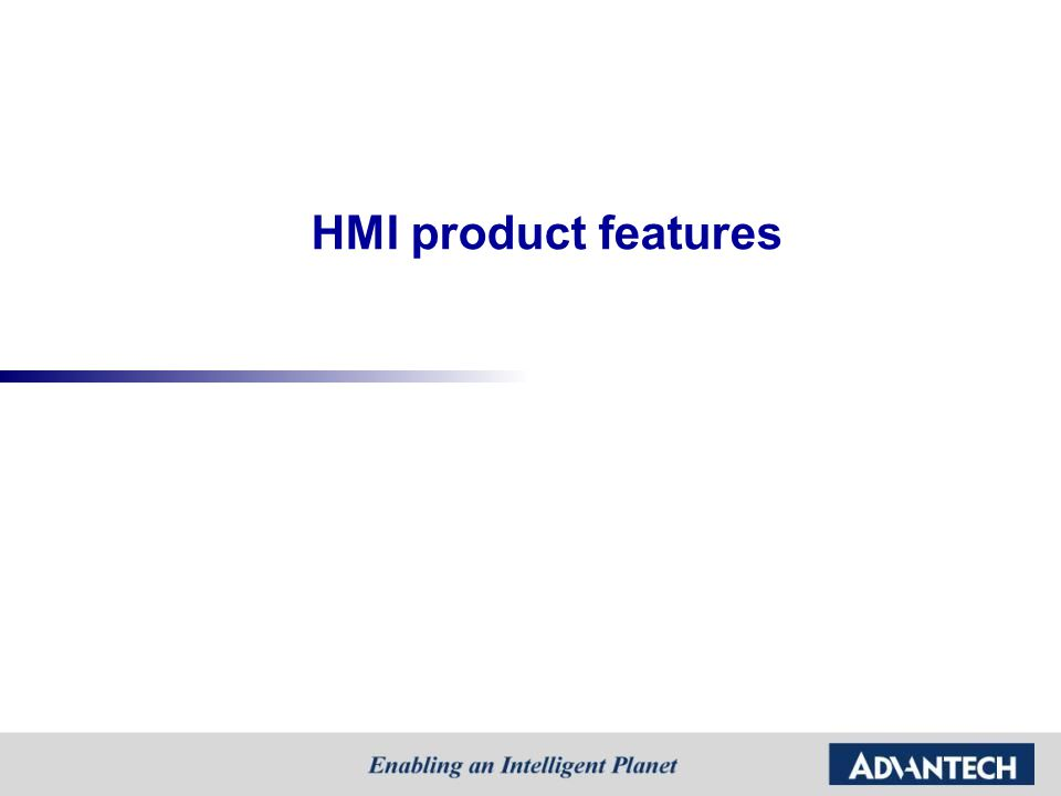 Where are the application for HMI products.