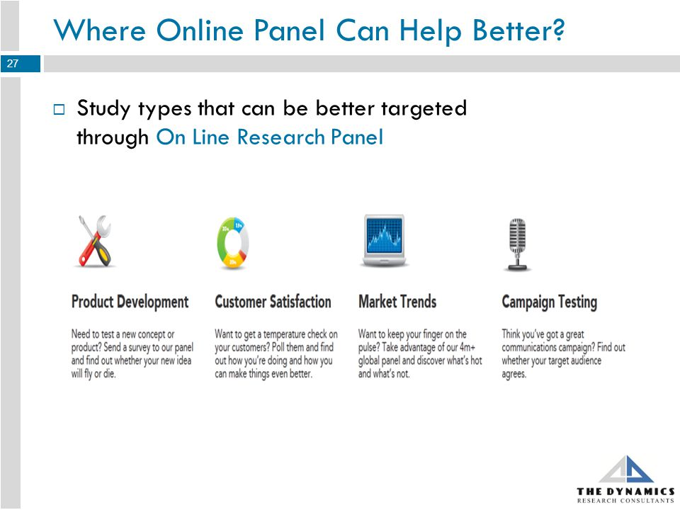 Where Online Panel Can Help Better.