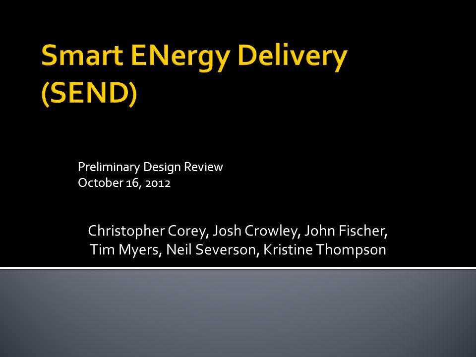 Preliminary Design Review October 16, 2012 Christopher Corey, Josh Crowley, John Fischer, Tim Myers, Neil Severson, Kristine Thompson
