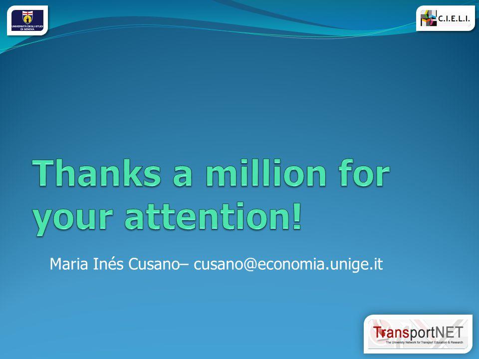 Maria Inés Cusano– cusano@economia.unige.it 13
