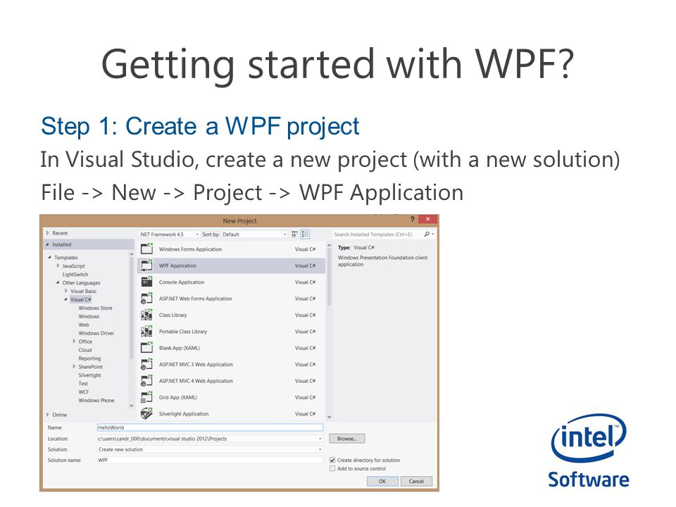 Getting started with WPF? Step 2: Run your project Click on the play button