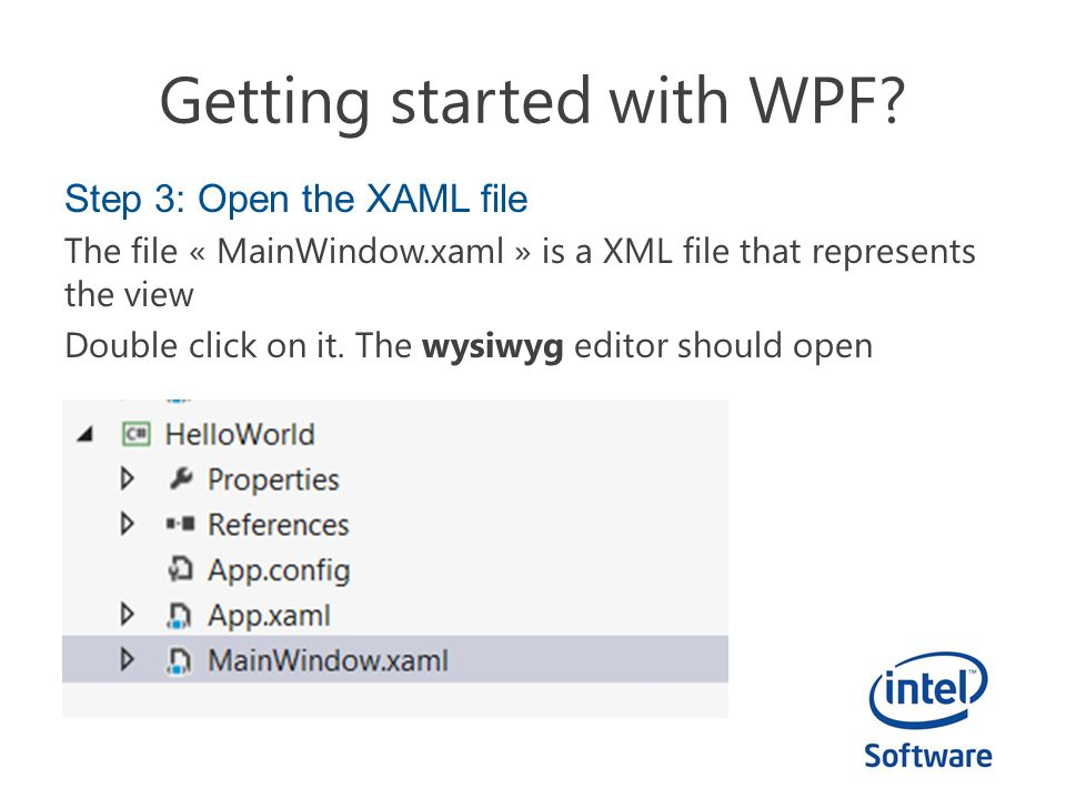 Getting started with WPF.