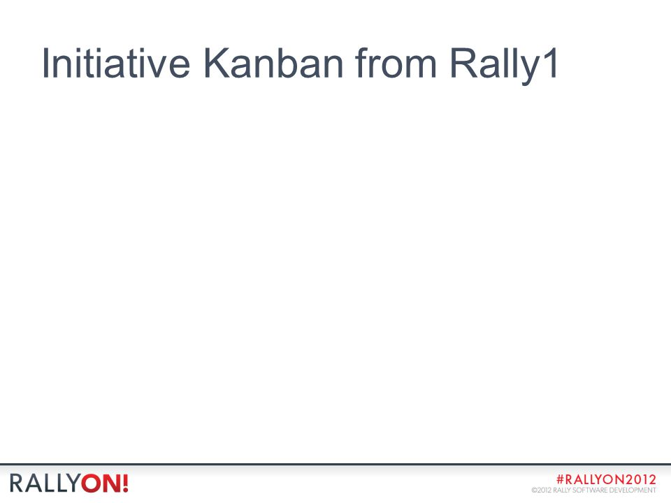 Initiative Kanban from Rally1