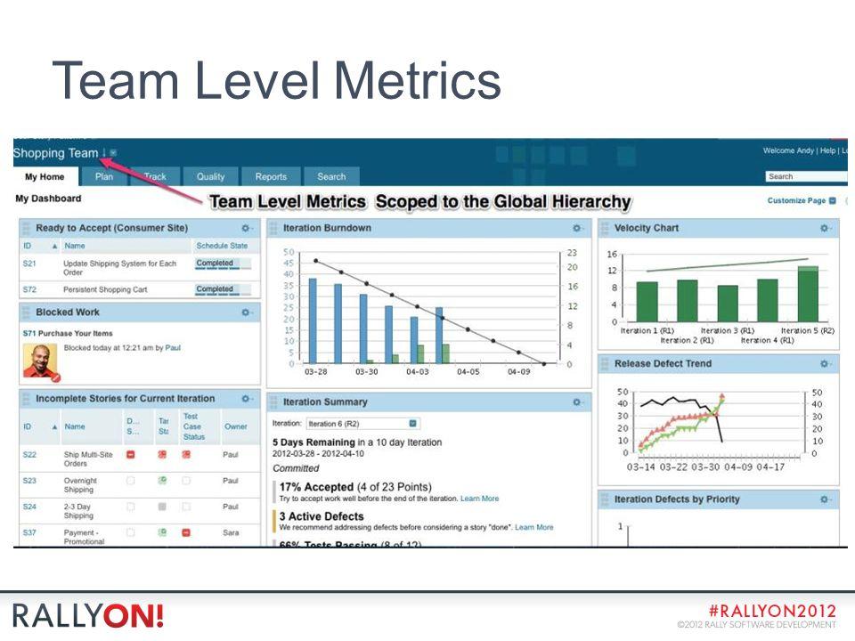 Team Level Metrics