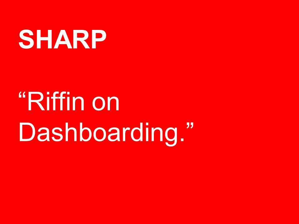 SHARP Riffin on Dashboarding.