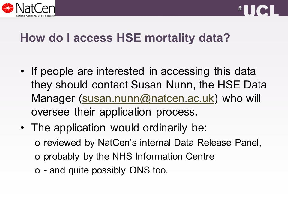 How do I access HSE mortality data.