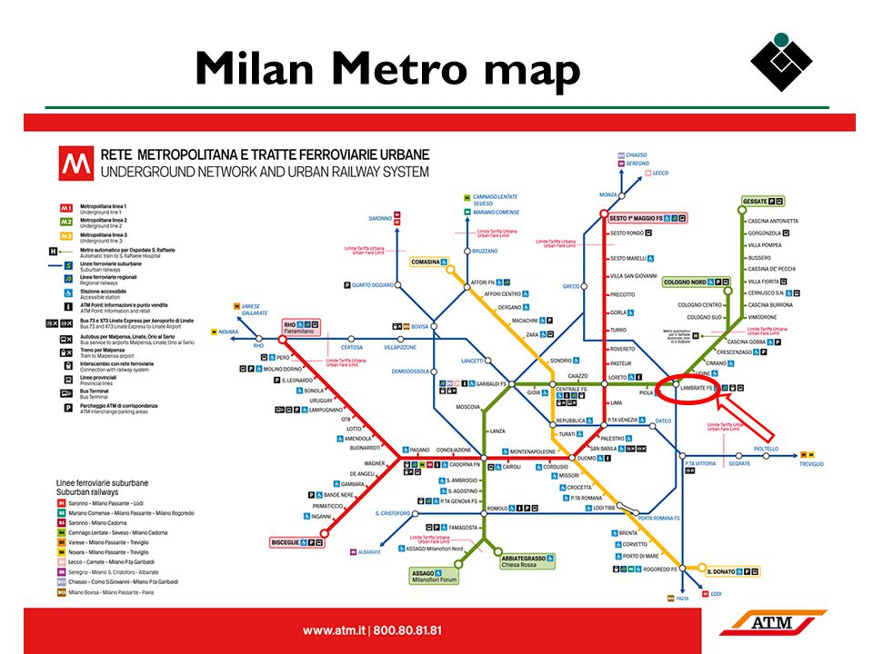 IEC TC 34 panels – Milan - January 2013 Milan Metro map