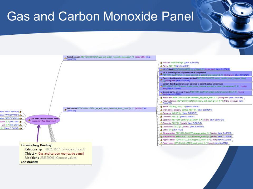 Gas and Carbon Monoxide Panel