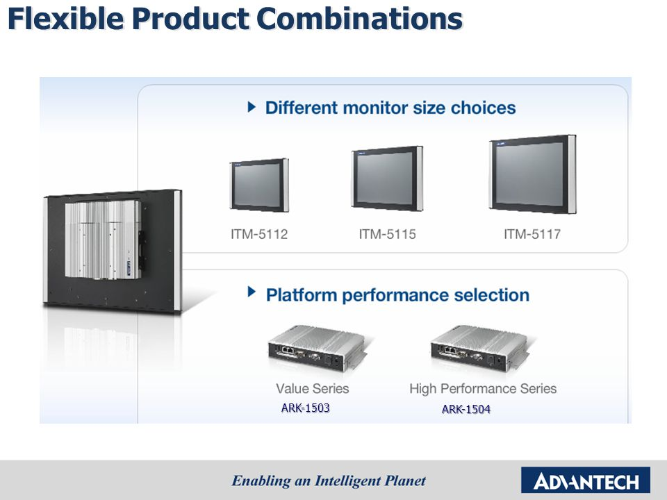 Flexible Product Combinations ARK-1503 ARK-1504