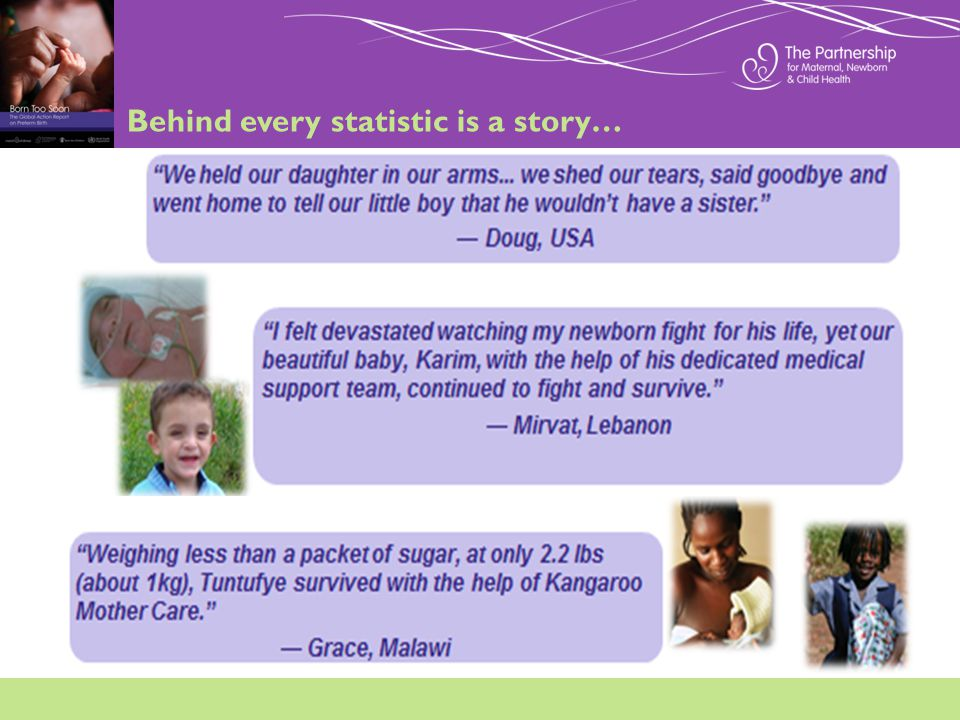Behind every statistic is a story…