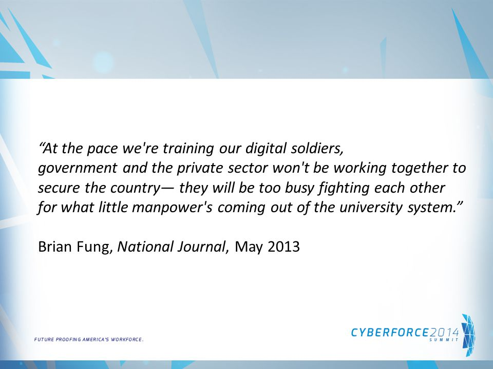 Survey Respondents In March 2014, DICE Surveyed CyberSecurity Employees.