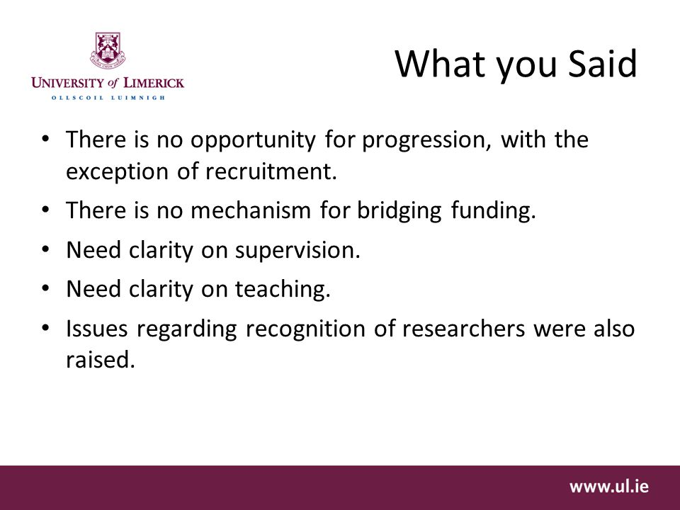What you Said There is no opportunity for progression, with the exception of recruitment.