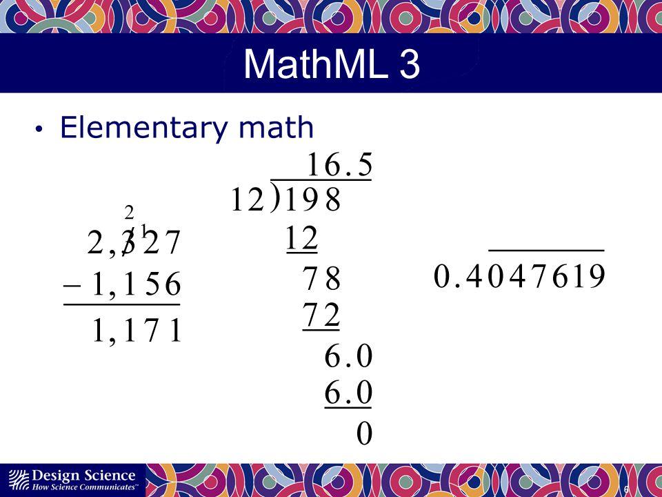 MathML 3 International math support 7