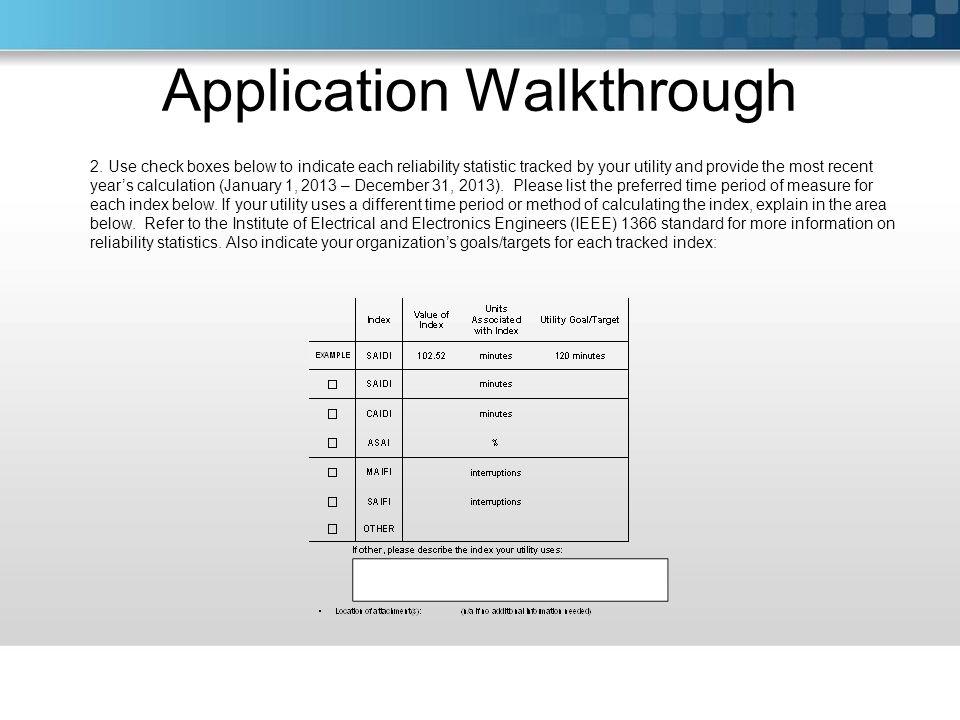Application Walkthrough