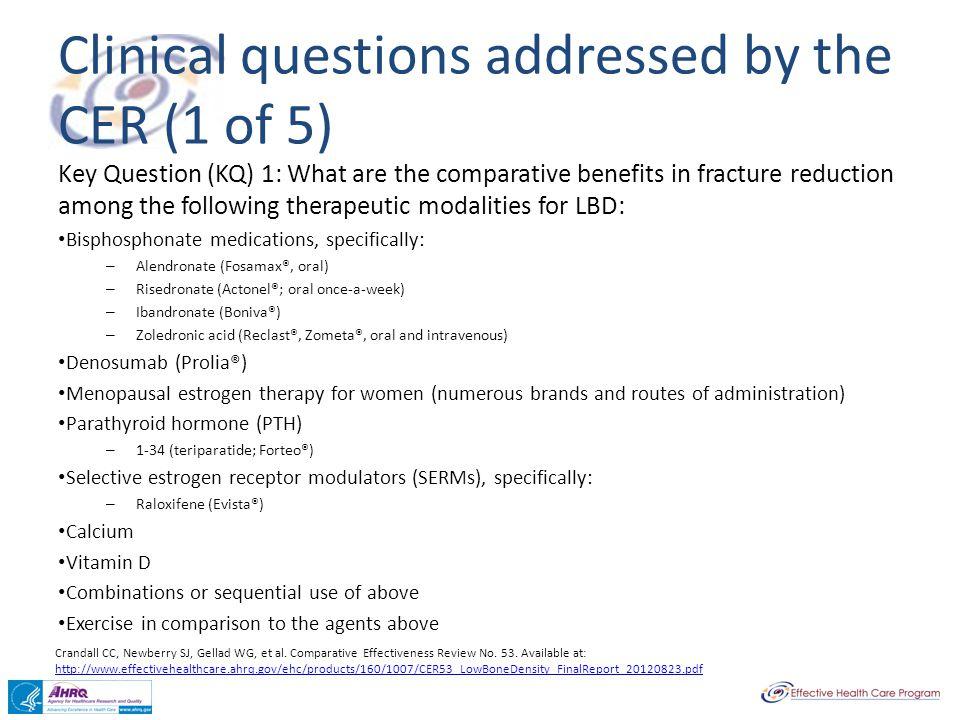 Crandall CC, Newberry SJ, Gellad WG, et al.Comparative Effectiveness Review No.