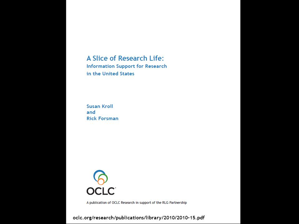 RLG Partnership ALA Update Webinar, 17 June oclc.org/research/publications/library/2010/ pdf