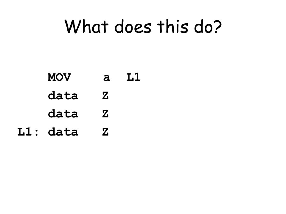 What does this do MOVa L1 data Z L1: data Z