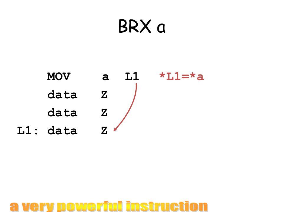 BRX a MOVa L1 *L1=*a data Z L1: data Z