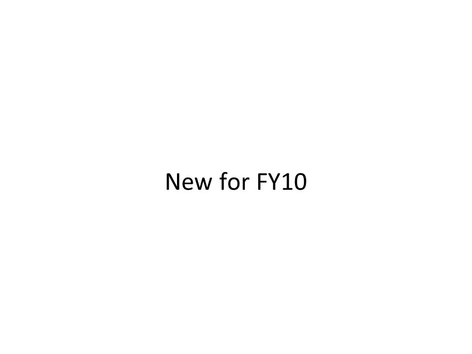 New for FY10