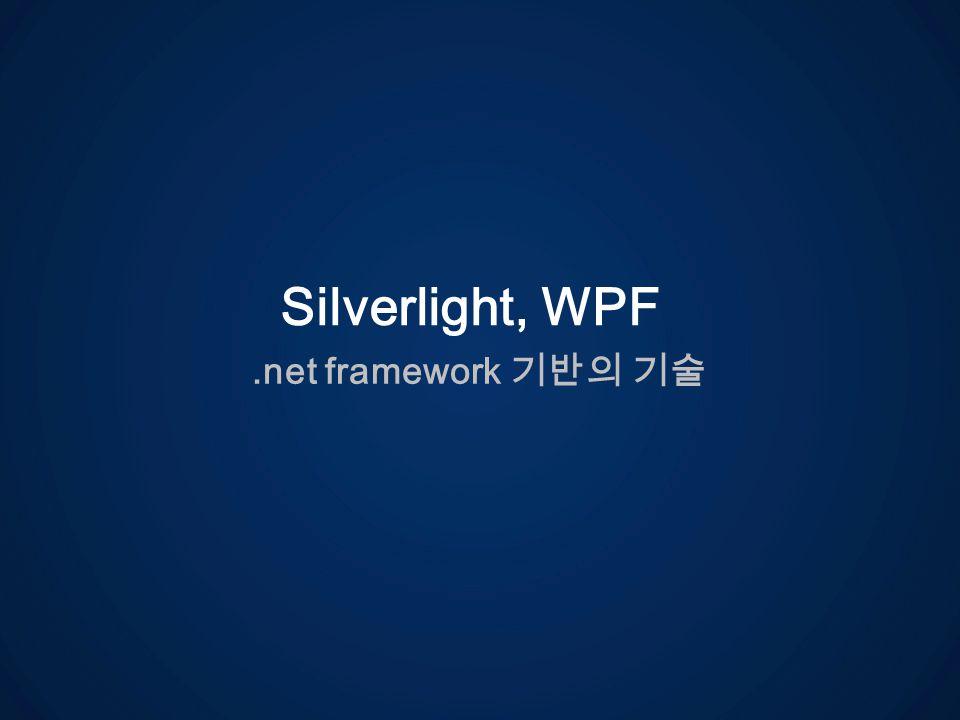 .net framework Silverlight, WPF