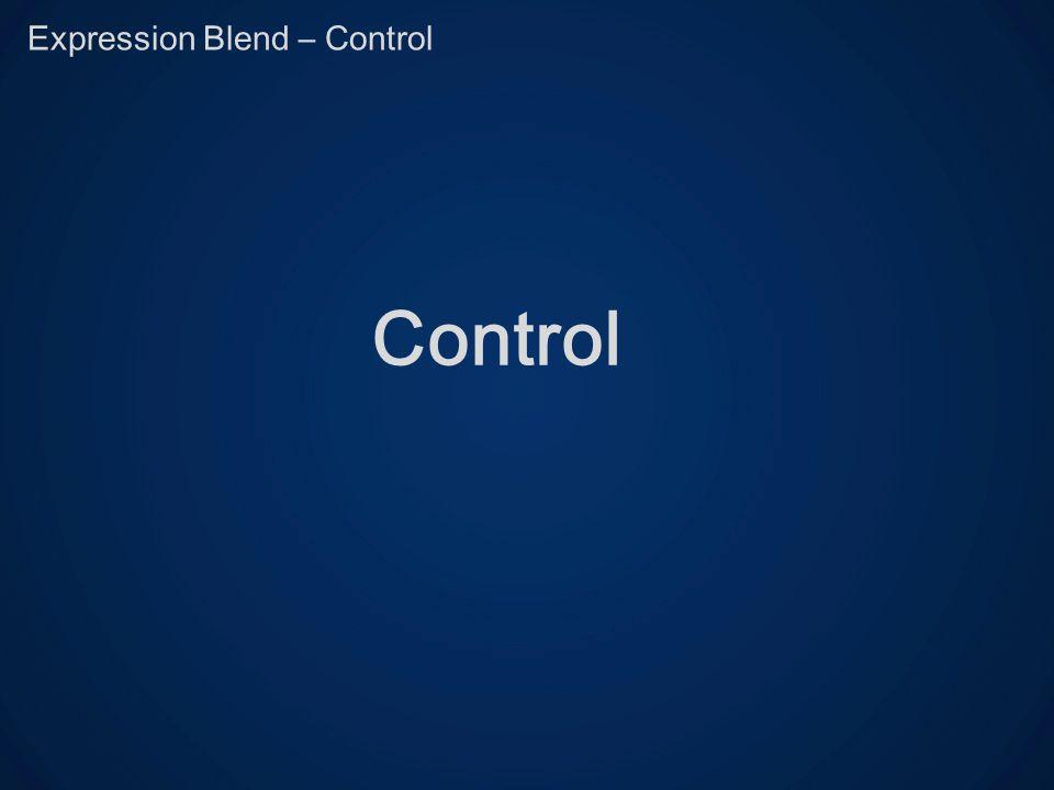 Expression Blend – Control Control