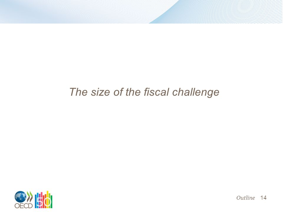 14 The size of the fiscal challenge Outline