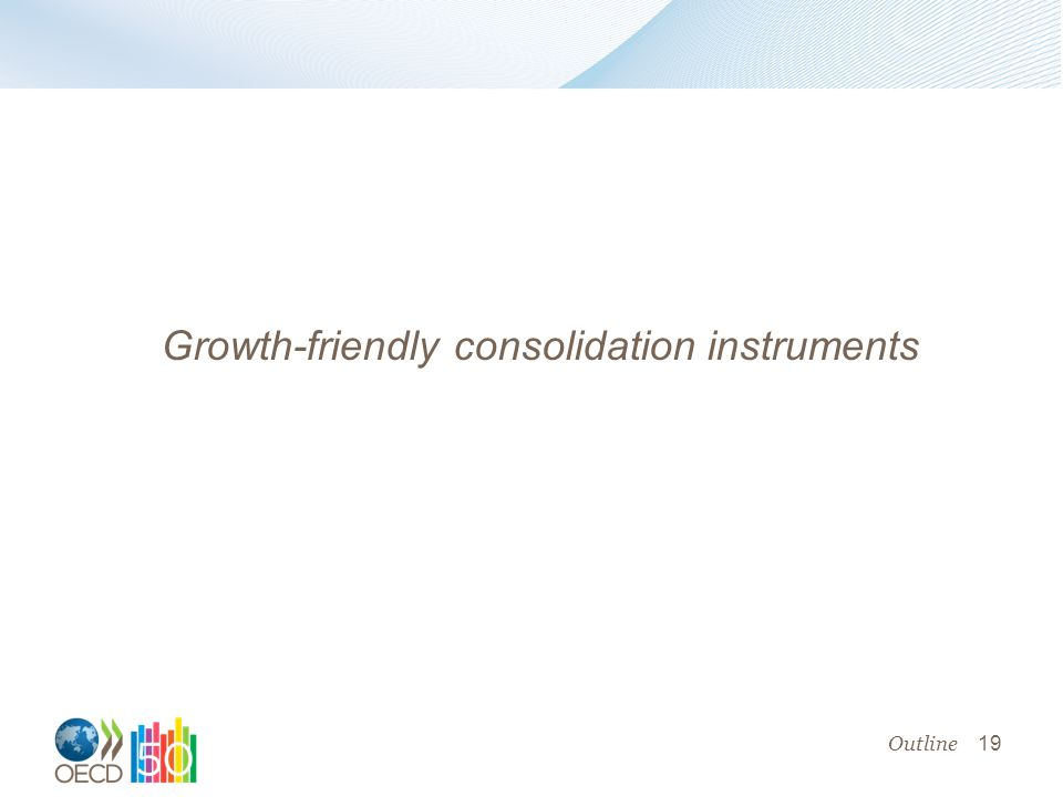 19 Growth-friendly consolidation instruments Outline