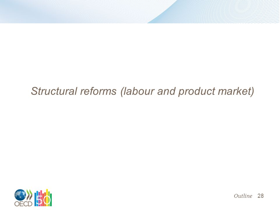 28 Structural reforms (labour and product market) Outline