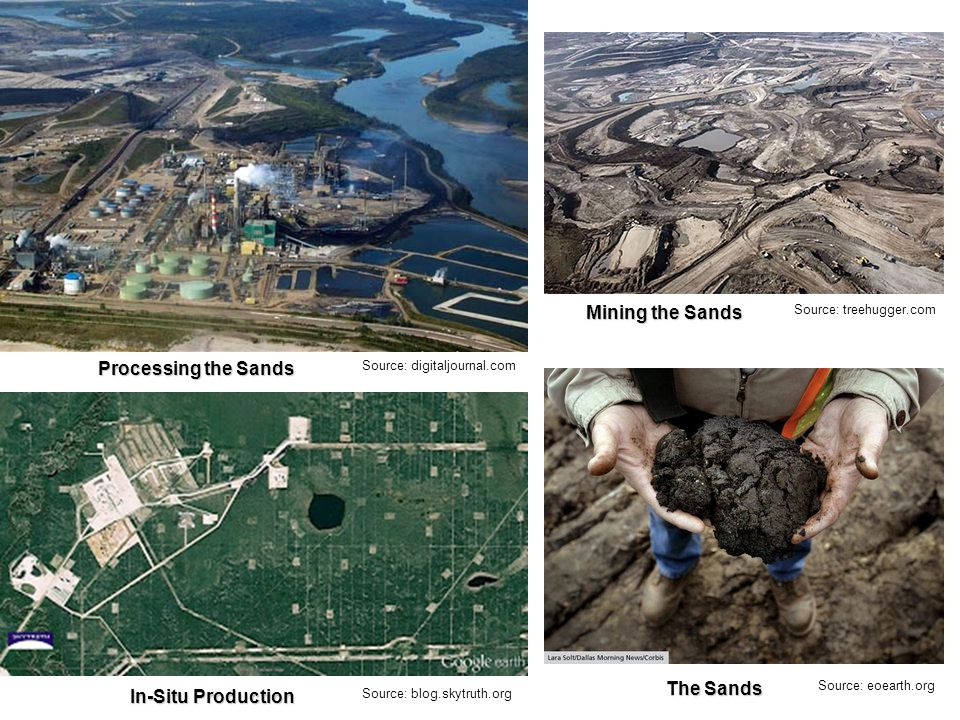 Source: digitaljournal.com Source: blog.skytruth.org Source: treehugger.com Source: eoearth.org Processing the Sands Mining the Sands In-Situ Production The Sands