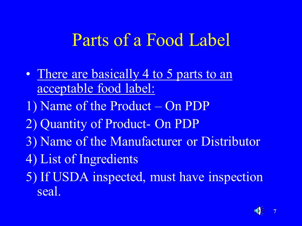 38 HANDLING INSTRUCTIONS Perishable products must give handling instructions such as Keep Refrigerated or Keep Frozen.