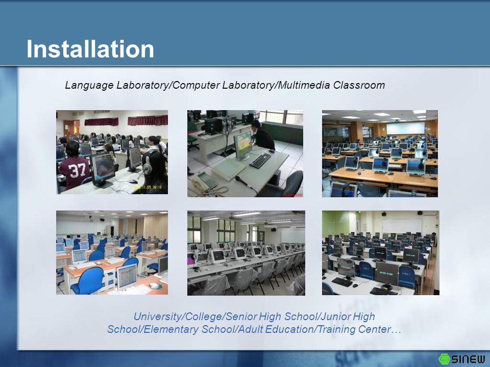Installation Language Laboratory/Computer Laboratory/Multimedia Classroom University/College/Senior High School/Junior High School/Elementary School/A