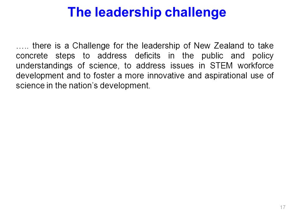 The leadership challenge …..