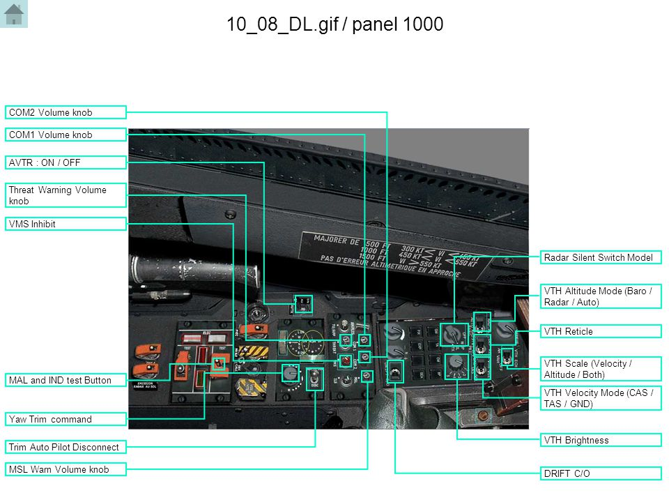 10_08_DL.gif / panel 1000 Yaw Trim command VTH Scale (Velocity / Altitude / Both) VTH Velocity Mode (CAS / TAS / GND) VTH Altitude Mode (Baro / Radar