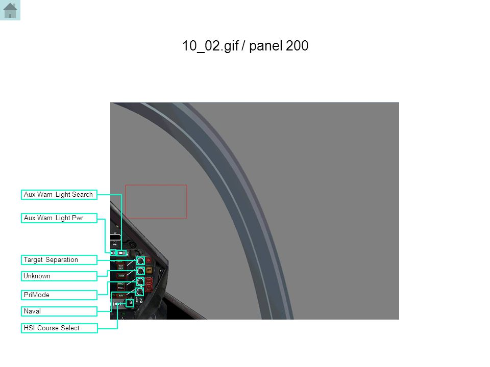 10_02.gif / panel 200 HSI Course Select Naval PriMode Aux Warn Light Search Aux Warn Light Pwr Unknown Target Separation