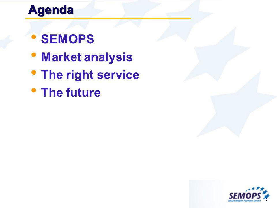 2Agenda SEMOPS Market analysis The right service The future