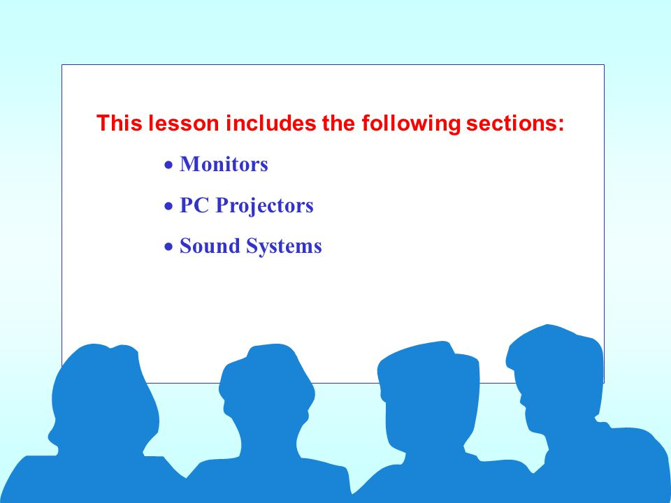 Monitors and Sound Systems lesson 5