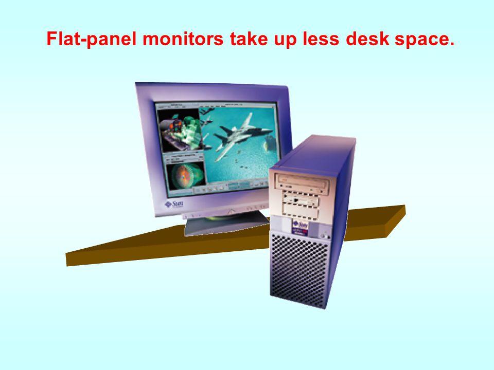 Monitors - Flat-Panel Monitors Most flat-panel monitors use liquid crystal display (LCD) technology. Passive matrix LCD uses a transistor for each row